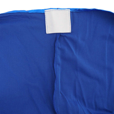 6FT Metallic Royal Blue Rectangular Stretch Spandex Table Cover