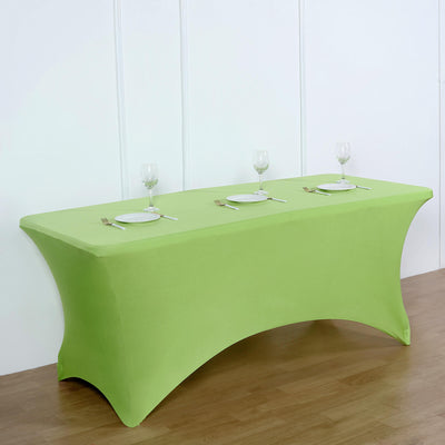 6FT Apple Green Rectangular Stretch Spandex Tablecloth
