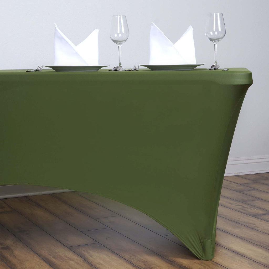 6 Ft Rectangular Spandex Table Cover Willow Green
