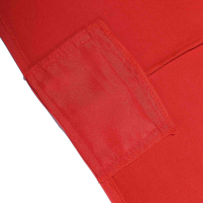 8 FT Red Rectangular Stretch Spandex Tablecloth