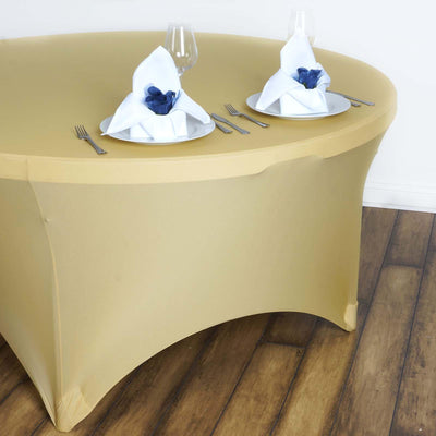 Champagne Spandex Tablecloth 60""