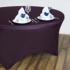 Eggplant Spandex Tablecloth 60""