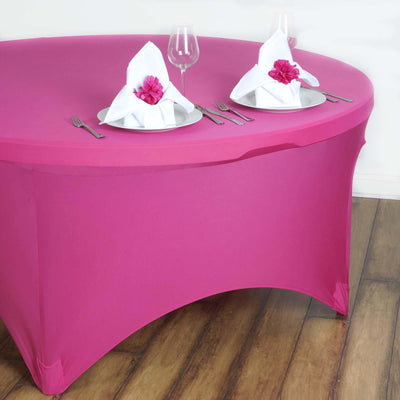 Fushia Spandex Tablecloth 60""