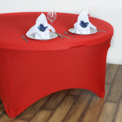 Red Spandex Tablecloth 60inches