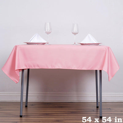 "54"" Rose Quartz Square Polyester Table Overlay - Clearance SALE"