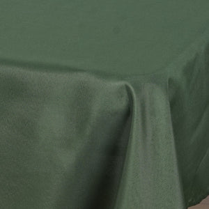 "54"" x 54"" Willow Green Wholesale Seamless Polyester Square Tablecloth Overlay For Banquet Wedding Party Restaurant"