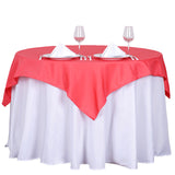"54"" Coral square Polyester Table Overlay - Clearance SALE"