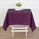 54 inches Eggplant Square Polyester Tablecloth