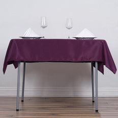 "54"" Eggplant Square Polyester Tablecloth"