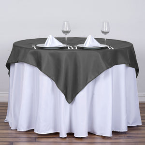 54 inches Charcoal Gray Square Polyester Table Overlay