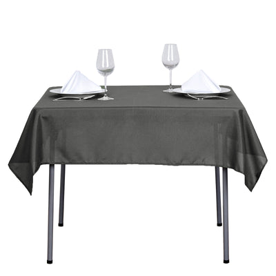 54 inches Charcoal Grey Square Polyester Tablecloth