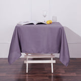 54 inch Violet Amethyst Square Polyester Tablecloth