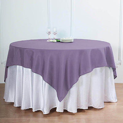 54 inch Violet Amethyst Square Polyester Table Overlay