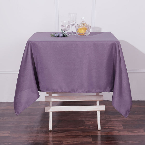 "54"" Violet Amethyst Square Polyester Tablecloth"