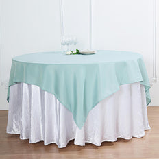 "54"" Dusty Sage Square Polyester Table Overlay"