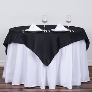 54 inches Black Square Polyester Table Overlay