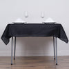 "54"" Black Square Polyester Tablecloth"
