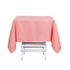 54 inch Coral Square Polyester Tablecloth