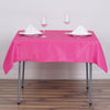 "54"" Fushia Square Polyester Table Overlay"