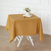 "54"" Gold Square Polyester Tablecloth"
