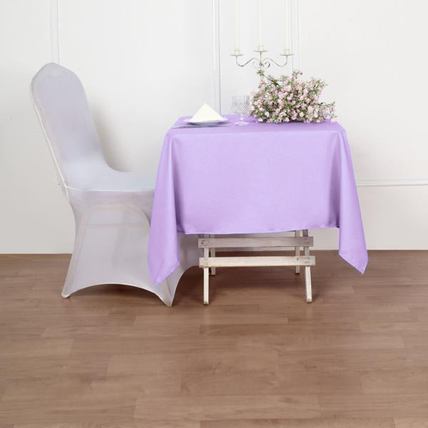 "54"" Lavender Square Polyester Tablecloth"