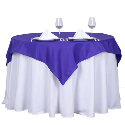 "54"" Purple Square Polyester Table Overlay"