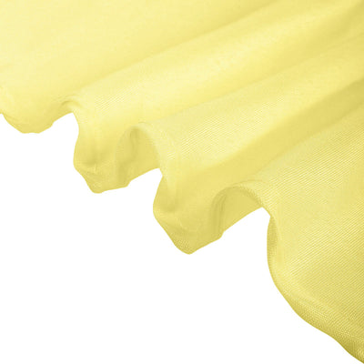 54 Inch | Yellow Square Polyester Table Overlay