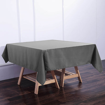 70 inch Charcoal Gray Premium Square Polyester Tablecloth