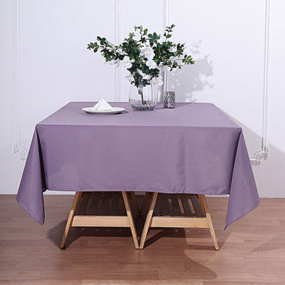 70 Violet Amethyst Premium Square Polyester Tablecloth