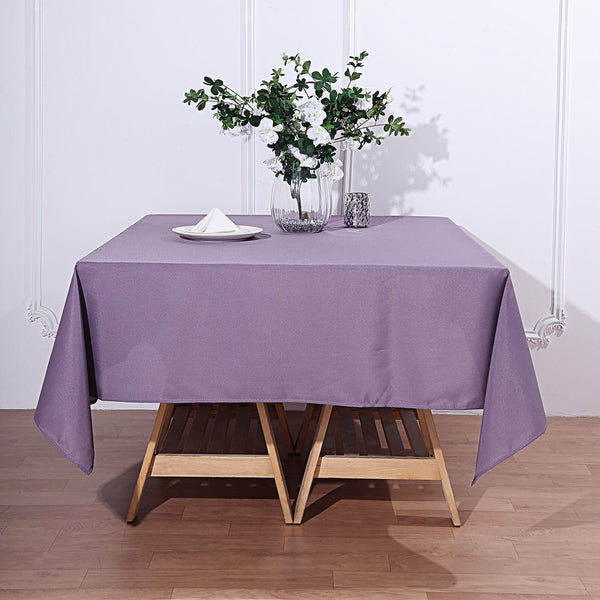 "70"" Violet Amethyst Square Polyester Tablecloth"