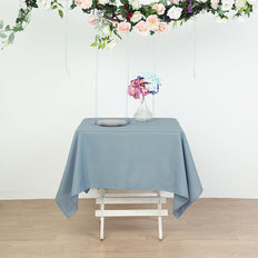 70inch Dusty Blue Square Polyester Tablecloth