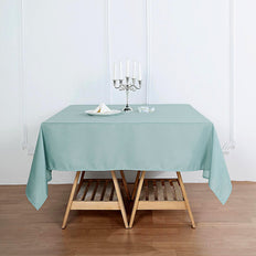 70inch Dusty Sage Square Polyester Tablecloth