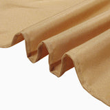 70inch Gold Square Polyester Tablecloth