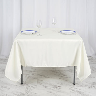 70inch Ivory Square Polyester Tablecloth