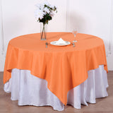 70 inch Orange Premium Square Polyester Tablecloth