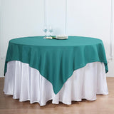 70inch Teal Square Polyester Tablecloth