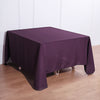 90 inch Eggplant Square Polyester Tablecloth