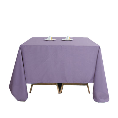 "90"" Violet Amethyst Square Polyester Tablecloth"