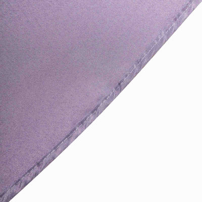 "90"" Violet Amethyst Square Polyester Table Overlay"
