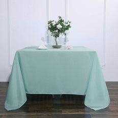 90inch Dusty Sage Square Polyester Tablecloth