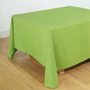 "90"" Apple Green Square Polyester Tablecloth"