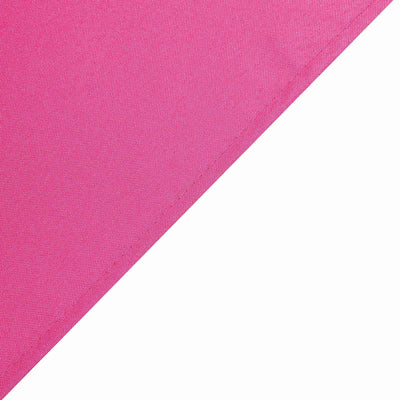 90 Inch Fushia Square Polyester Tablecloth