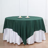 "90"" Hunter Emerald Green Square Polyester Table Overlay"