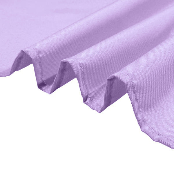 "90"" Lavender Square Polyester Table Overlay"