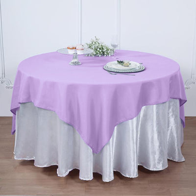 54 Inch | Lavender Square Polyester Table Overlay