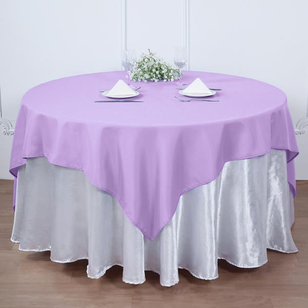 "54"" Lavender Square Polyester Table Overlay"