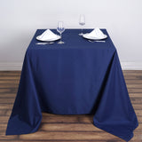 "70"" Navy Blue Premium Square Polyester Tablecloth"