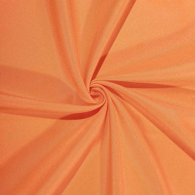 90inch Orange Square Polyester Table Overlay