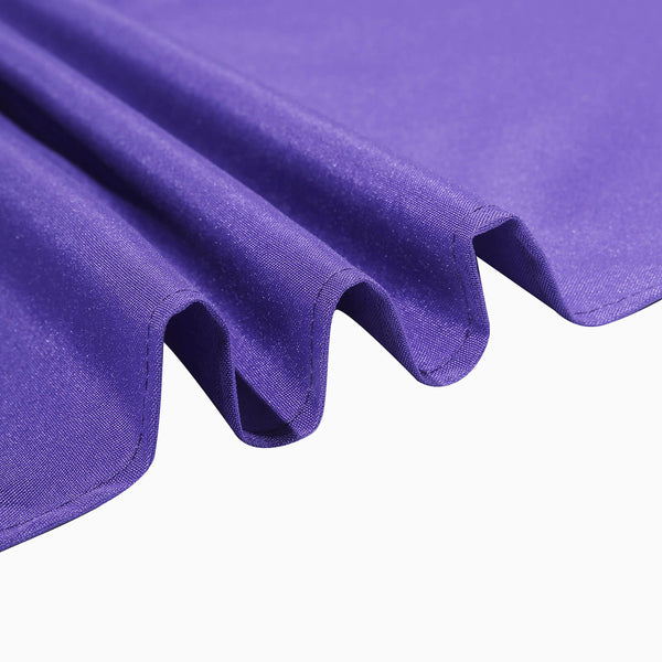 "90"" Purple Square Polyester Table Overlay"