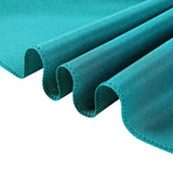 "90"" Teal Square Polyester Tablecloth"